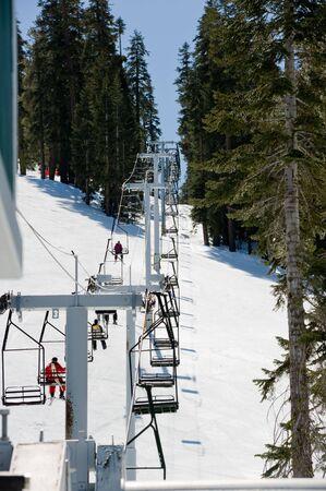 Ski Resort in Lake Tahoe California Stok Fotoğraf