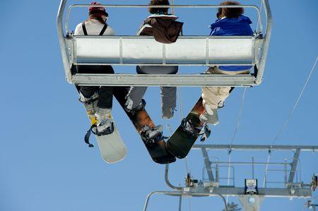 Ski Resort in Lake Tahoe California Stock Photo