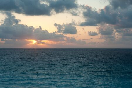Sunrise in Cancun Mexico during their spring months Stock Photo