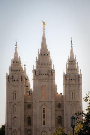 Het Mormon kerken tempel plein in Salt Lake City, Utah Stockfoto