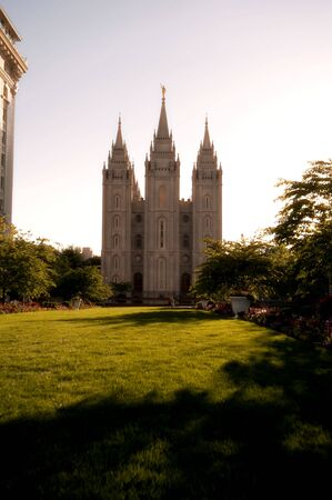 The Mormon Churches Temple Square in Salt Lake City, Utah Stok Fotoğraf