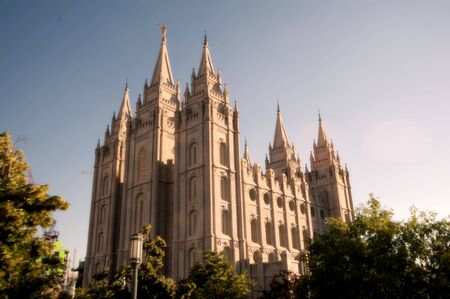 mormon: The Mormon Churches Temple Square in Salt Lake City, Utah Stock Photo