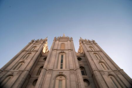 The Mormon Churches Temple Square in Salt Lake City, Utah photo
