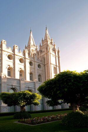 The Mormon Churches Temple Square in Salt Lake City, Utah Imagens