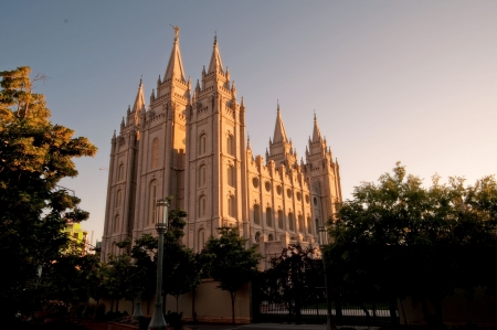 The Mormon Churches Temple Square in Salt Lake City, Utah photo