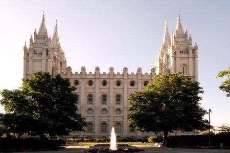 The Mormon Churches Temple Square in Salt Lake City, Utah Stock Photo