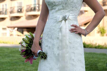 Bruid houden boeket