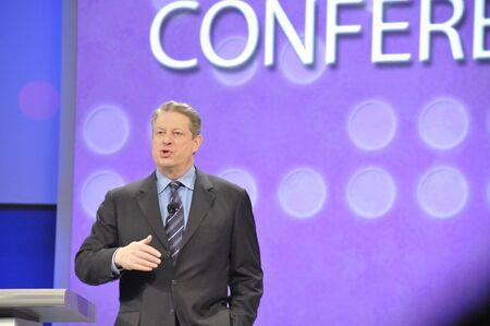 11 April 2008. San Francisco Californië. RSA conferentie gehouden in het Moscone Center. De RSA-conferentie is grote conferentie voor informatie beveiligingsprofessionals. Al Gore sprak over groene technologieën.