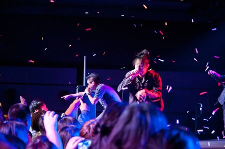 angeli: LINCOLN, CA - February 24  K-Pop group Iammedic performs at Thunder Valley Casino Resort in Lincoln, California on February 24, 2012 Editorial