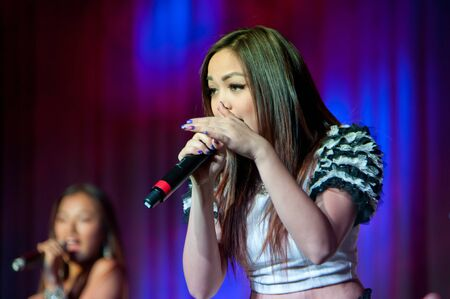 LINCOLN, CA - February 24: K-Pop group Blush  performs at Thunder Valley Casino Resort in Lincoln, California on February 24, 2012 Stock Photo - 13072861