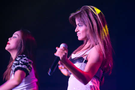 yup: LINCOLN, CA - February 24: Alisha Budhrani with K-Pop group Blush  performs at Thunder Valley Casino Resort in Lincoln, California on February 24, 2012