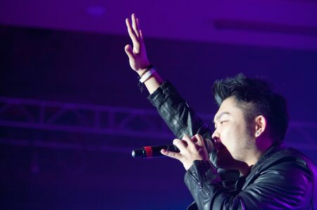 yup: LINCOLN, CA - February 24: Nicky Lee with Aziatix performs at Thunder Valley Casino Resort in Lincoln, California on February 24, 2012 Editorial