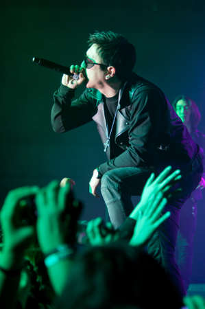 LINCOLN, CA - February 24: Flowsik with Aziatix performs at Thunder Valley Casino Resort in Lincoln, California on February 24, 2012 Stock Photo - 13072787