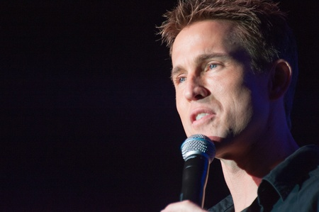 comedic: LINCOLN, CA - April 6: Jason Love performs at Thunder Valley Casino Resort in Lincoln, California on April 6, 2012 Editorial