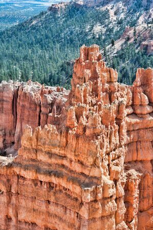 Unique rock formations in Bryce Canyon located in Utah, United States  Stock Photo