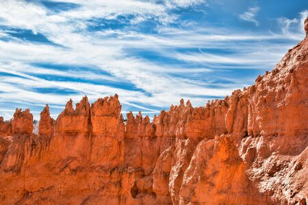 Unique rock formations in Bryce Canyon located in Utah, United States. photo