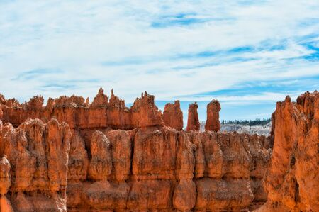 image created 21st century: Unique rock formations in Bryce Canyon located in Utah, United States.