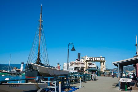 san Francisco, CA - February 03: Hyde Street Pier in San Francisco, CA Editorial