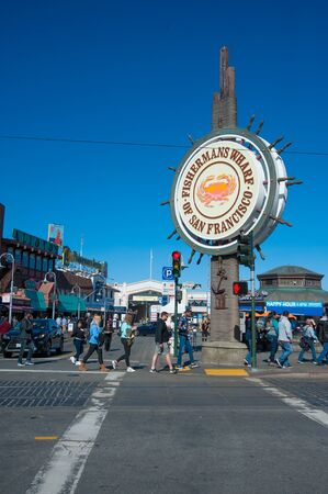 San Francisco, CA - February 03: San Franciscos Fishermans Wharf District