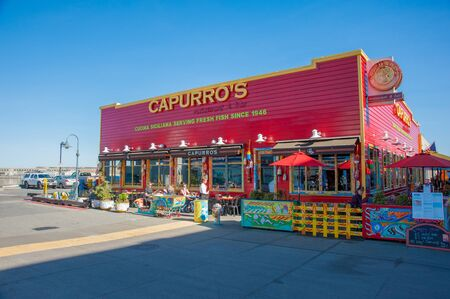 San Francisco, CA - February 03: Capurros restaurant in the Fishermans Wharf area of San Francisco, CA Editorial