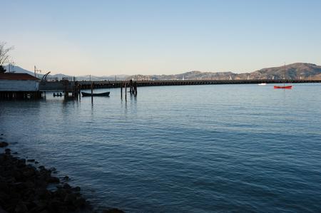 San Francisco, CA - February 03: Aquatic Park Cove in San Francisco