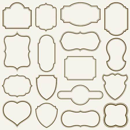 sencillo: Conjunto de bastidores simples ilustración vectorial.