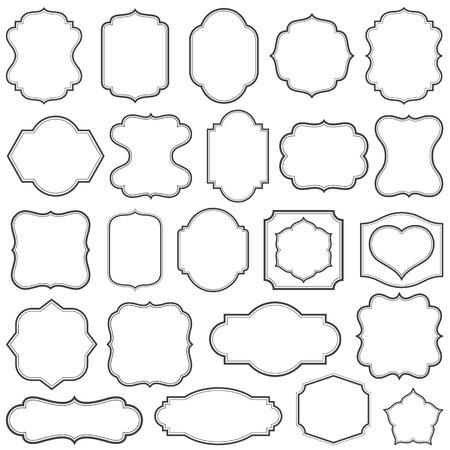 Set of simple frames vector illustration.