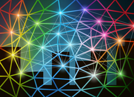 Abstract network background vector illustration. Saved in EPS 10 file with transparencies. All elements are separated, well organized for easy editing. Hi-res jpeg file included 5400x4000.