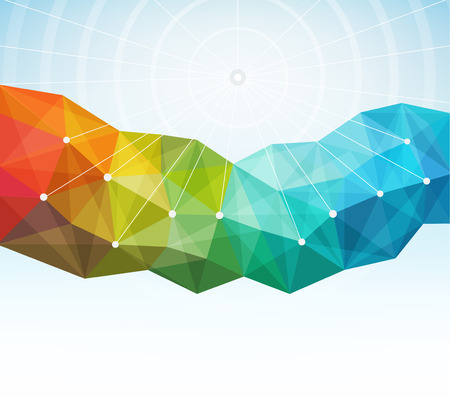 Abstract geometric background vector illustration. Saved in EPS 10 file with transparencies. All elements are separated, well organized for easy editing. Hi-res jpeg file included 4500x4000.