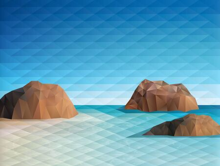 reef: Triangular scene background vector illustration. Saved in EPS  AI 10 with transparencies.Hi-res jpg file included 5300x4000.