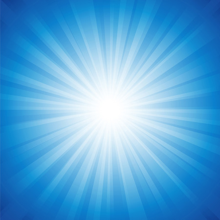 sunbeam: Blue radiance background vector illustration.Saved in EPS 10 with transparencies, well layered and easy to use. Hi-res jpeg file included 4000x4000.