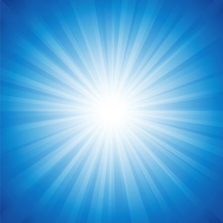 radianza Sfondo blu vettore illustration.Saved in EPS 10 con trasparenze, ben stratificata e facile da usare. Jpeg ad alta risoluzione file incluso 4000x4000.