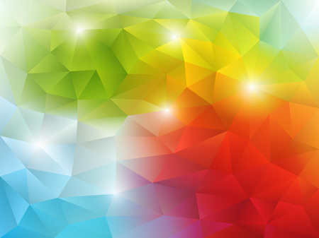 Multicolored abstract background vector illustration with triangular style. Saved in EPS 10 file with transparencies. Well organized and easy to use.Hi-res jpg file included 5300x4000. Çizim