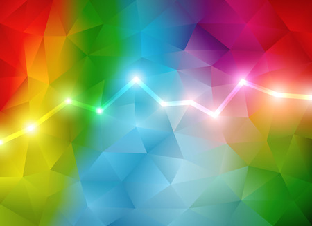 Multicolored abstract background vector illustration with triangular style. Saved in EPS 10 file with transparencies. Well organized and easy to use.Hi-res jpg file included 5500x4000. Çizim