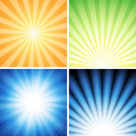 4 つの輝きの背景ベクトル イラストです。透明度、よくレイヤード、usecustomize に簡単に EPS 10 に保存されます。高解像度 jpeg ファイルは、5000 × 5000   イラスト・ベクター素材