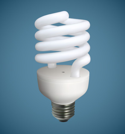 bright paintings: A Spiral light bulb vector illustration.Saved in eps 10 file with 3 transparencies, gradient meshes, 2 feather effects and 3 elements with opacity mask. Hi-res jpeg file included 4600x5000. Illustration