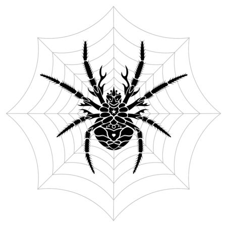 Stylized Spider vector illustration. Saved in EPS 8 file format fully editable with separated elements. High res jpg included 4000x4000. Çizim