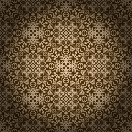 luxurious background: Seamless repeating pattern vector illustration. Saved in EPS 10 file with one transparency. All elements are separated and grouped relatively. Scale up all elements to 800-1000 first before editing. High res jpg included 4000x4000.