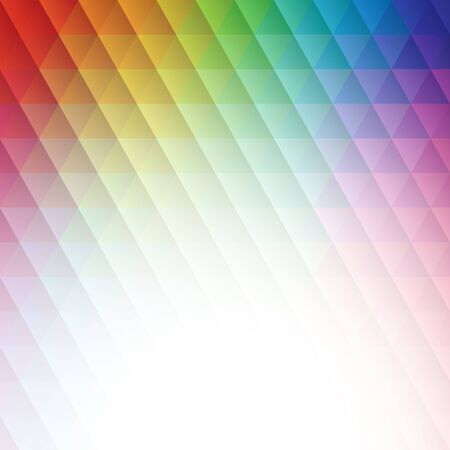 Abstract spectrum triangle background vector illustration. Saved in EPS 10 with 1  transparent object. Hi-res jpeg file included 4000x4000. Çizim