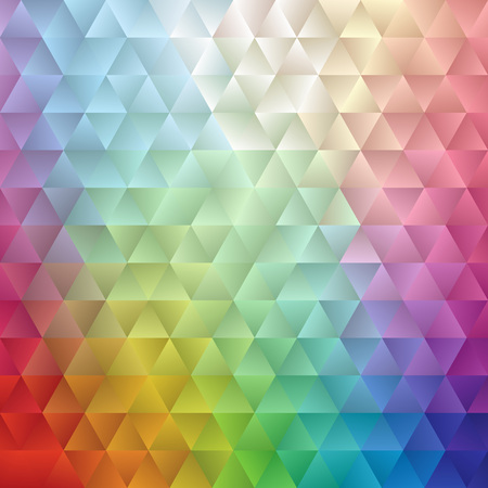 saved: Abstract spectrum triangle background vector illustration. Saved in EPS 10 with no transparencies. Hi-res jpeg file included 4000x4000. Illustration