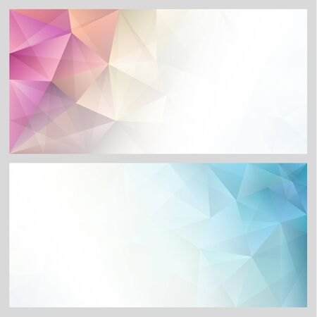 Abstract triangles background illustration. Çizim