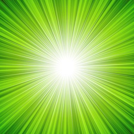 抽象緑輝き背景イラスト。