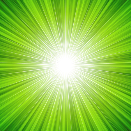 Abstract green radiance background illustration.  Ilustracja