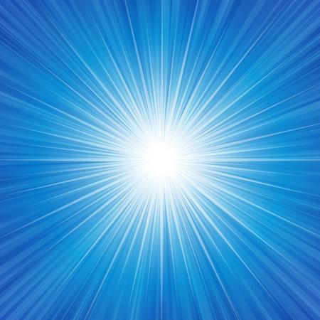 radiance: Blue radiance background vector illustration. Illustration