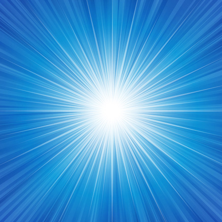 Blue radiance background vector illustration. Vectores