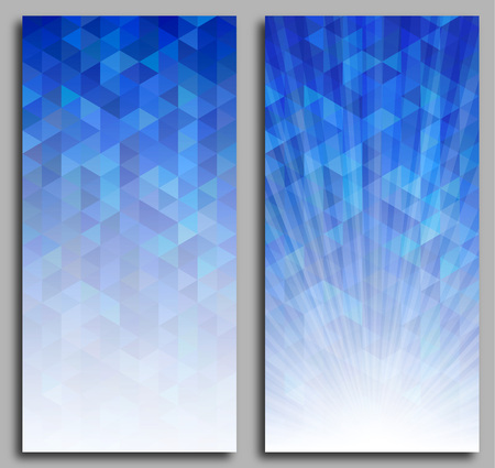 gradual: Abstract blue mosaic background illustration.