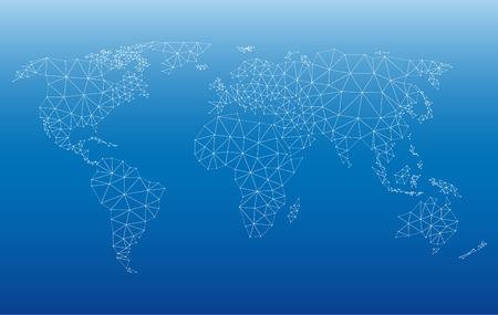 世界地図ベクター イラスト web のパターンを持つ。透明度なし 10 EPS ファイルに保存されます。関連するすべての要素を個別にグループ化されます。