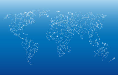 World Map vector illustration with web pattern. Saved in EPS 10 file without transparencies. All related elements are grouped separately. Hi-res jpeg file included 5500 x 3482.