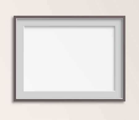 wall: Simple blank frame vector illustration.