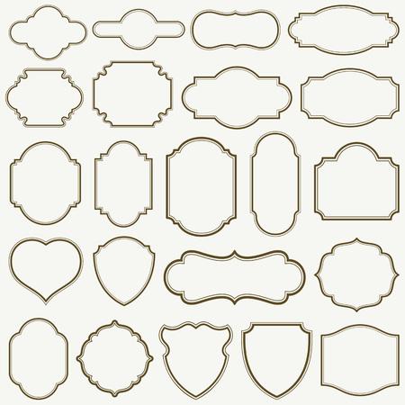 Set of plain frames vector illustration. saved in EPS 8 file. A large jpeg file included 5000x5000.